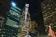 Bank of America Tower (Gary Burke.) Tags: city nyc newyorkcity ny newyork building skyline architecture night skyscraper canon eos rebel lights manhattan midtown dslr bankofamericatower garyburke klingon65 t1i canoneosrebelt1i