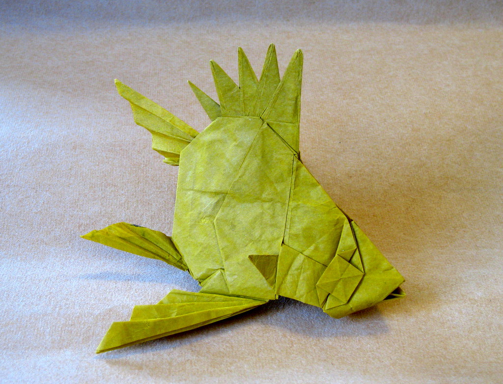 Butterfly Fish Friedman Origami Tags Yellow Paper