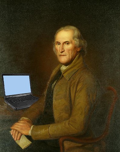 James Latimer Blogging, after Clawson Shakespeare Hammitt's copy of Charles Willson Peale's Portrait