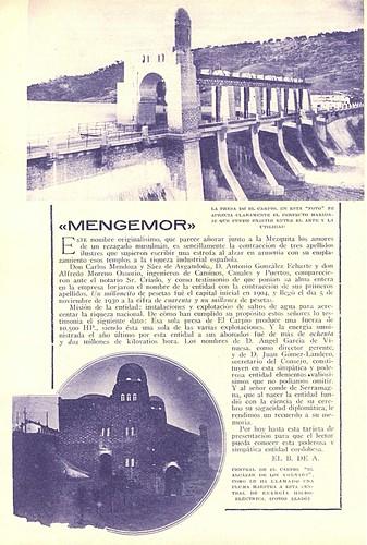 Publicidad de la central en la revista Blanco y Negro del año 1933