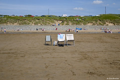 (Gina Marie Brocker) Tags: summer beach sand chairs spanishpoint countyclare