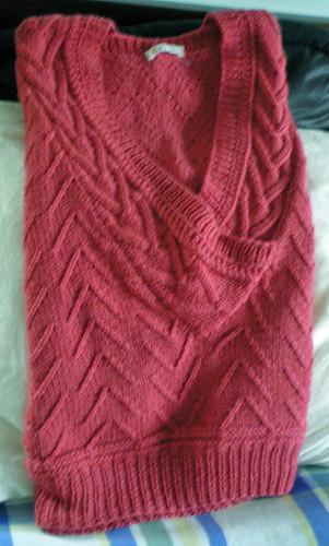 coral Tapestry vest