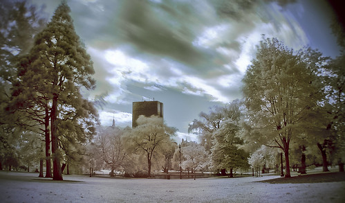 Boston Common in HDR infrared