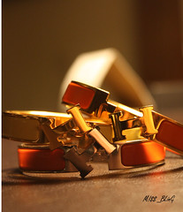 H.H.H (M!$$ BLinG) Tags: orange yellow silver gold hermes braceletes mbling