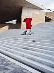 Jump! (Disahi) Tags: photoshop toledo salto jumps fantasma escaleras salta miradero disahi