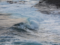 Breaking wave (Shandchem) Tags: storm scotland waves wave slate wick flagstone breaking caithness
