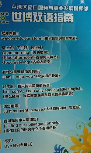 上海世博会英语
