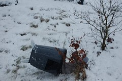 Darryl 3 (cn174) Tags: snow lancashire bin sledding snowing sledge sledging compostbin birkacre coppull