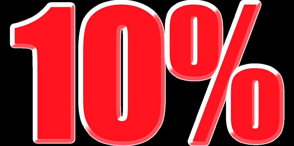 imagenes del 10% para carteles de rebajas