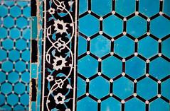 (Beshef) Tags: tile iran mosque ایران کرمان kerman mahan معماری کاشی ماهان شاهنعمتاللهولی کاشیکاری shahnematollahvali