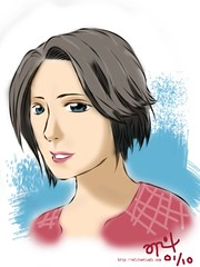 New Short Hair *colored* (dopplegangerz) Tags: sketch colored newhairstyle