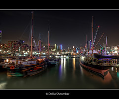 Leuvenhaven @ Night - Rotterdam (DolliaSH) Tags: city longexposure trip travel light vacation urban holiday haven holland color tourism water colors architecture night canon reflections river boats photography lights noche photo rotterdam europe foto tour place nightshot photos nacht harbour ships nederland thenetherlands wideangle visit location tourist illuminated explore le journey destination traveling maas visiting frontpage ultrawide nuit 1022mm notte touring stad 1022 noch zuidholland canonefs1022mmf3545usm leuvenhaven southholland nachtopname visitholland canoneos50d dollia dollias sheombar dolliash
