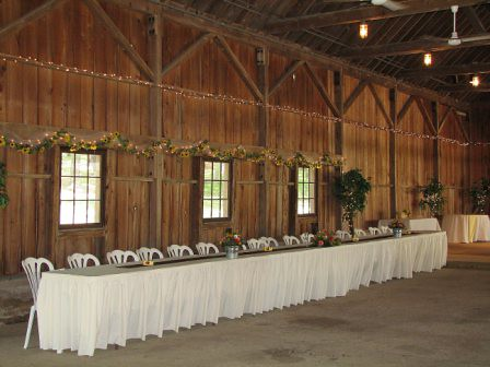 Bridal Party table layout