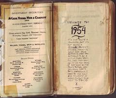 1954 inside cover