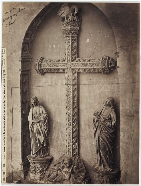 Portada del Pelícano de San Juan de Los Reyes hacia 1870. Fotografía de Jean Laurent. (C) RMN (Musée d'Orsay) / Hervé Lewandowski