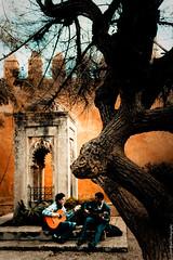 Guitarists in the Andalusian Garden, Kasbah des Oudaas - Rabat, Morocco (Beum Gallery) Tags: morocco maroc rabat kasbah oudaias flickraward udayas