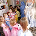 Cinderella teaches the children a princess pose!