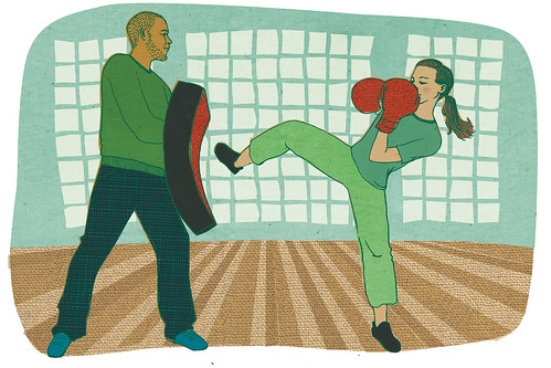 Kickboxing illustration