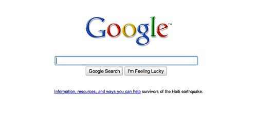 Google Fade has Haiti Relief
