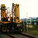 tracteur et tramway citadis en cours d'essais usine alstom la rochelle