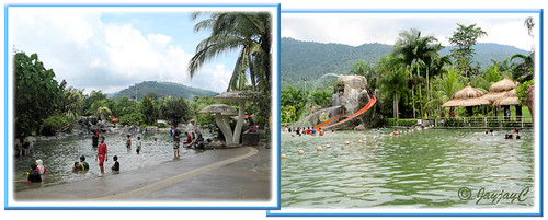 Hot and Cold Pools at Felda Residence Hot Springs, Sungkai