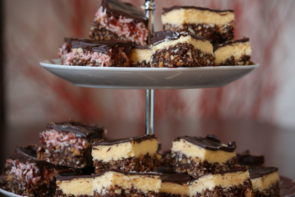 dark chocolate cherry ripe and nanaimo bars