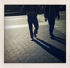 two guys (brklynphoto) Tags: nyc shadow walking washingtonsquarepark streetphotography 2guys