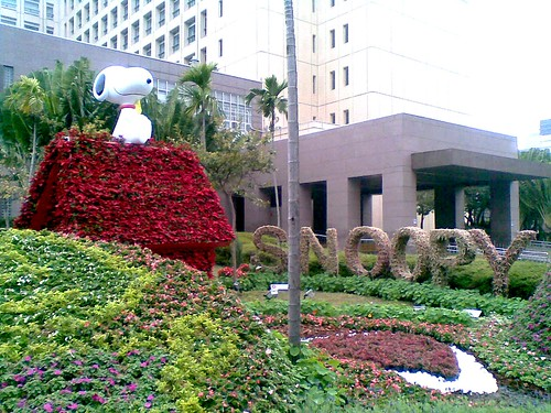 台北市政府前的史努比小花園 little Snoopy Garden