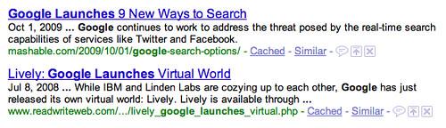 Google Last Update in SERPs