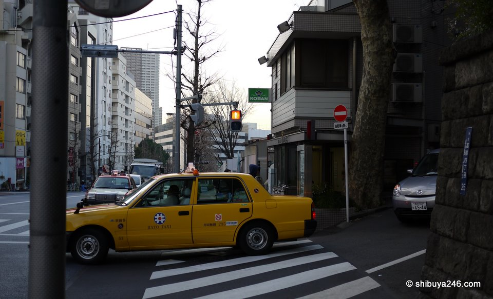A policebox (koban) tucked into the corner of the street. It has quite a bit of charm about it.
