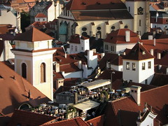 Afternoon drink in Prague (Mike G. K.) Tags: windows light architecture bar buildings cafe cityscape afternoon view rooftops prague towers roofs czechrepublic mikegk:gettyimages=submitted