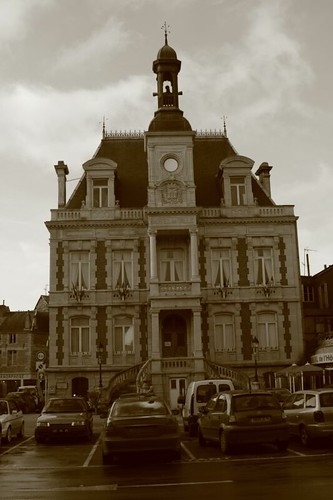 Hotel de Ville (town hall) in Givet, France.