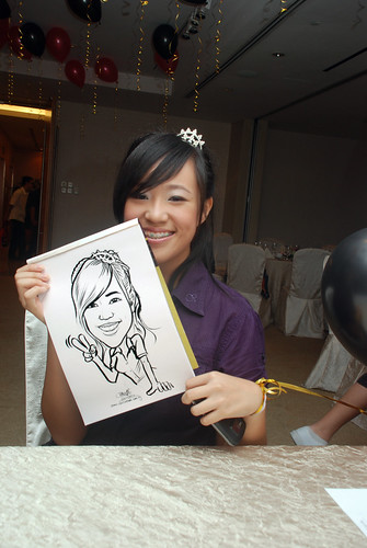caricature live sketching for birthday party 220110 - 6