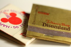 Day 224 (colonelchi) Tags: birthday park macro shop vintage logo mouse fire book store disneyland cigarette smoke cigar mickey lampost photoaday mickeymouse happybirthday 70s 1970s matches tobacco collectable matchbook happy50thbirthday tobaccoshop yearinphotos