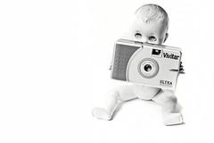Indecent Exposure (taylorkoa22) Tags: camera bw white black toy doll exposure plastic 365 vivitar strobe ultrawideslim marcgutierrez strobist julieschildhooddoll