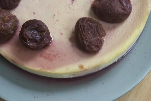 Yogurt Cheesecake with Plums