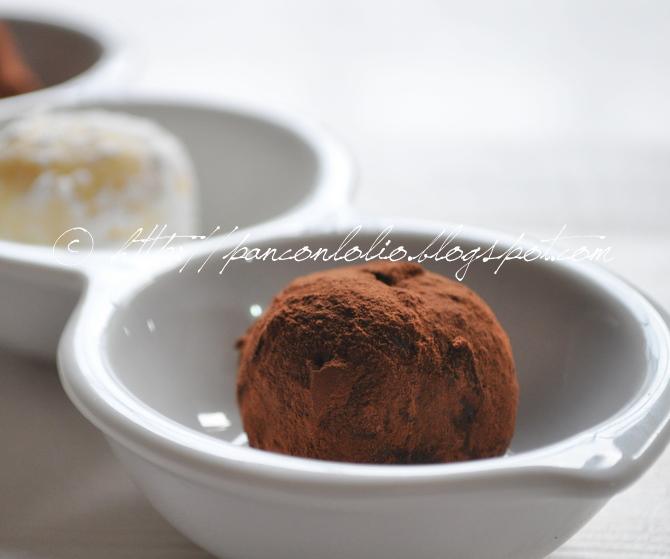 tartufi di cioccolato al peperocino