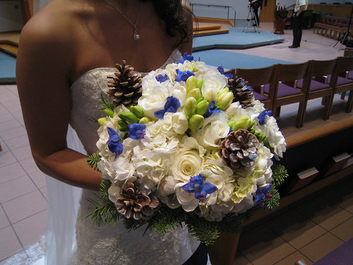 This is another bouquet that is for a winter wedding
