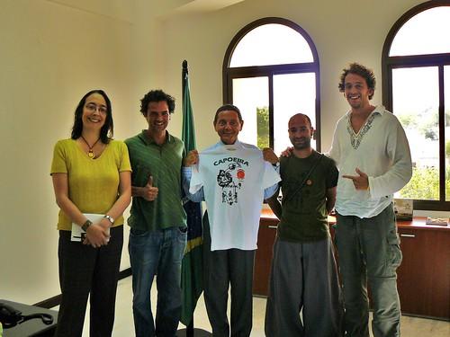 One happy Brazilian Ambassador