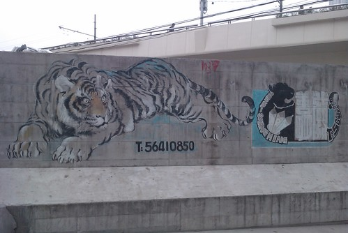 苏州河沿岸的老虎艺术