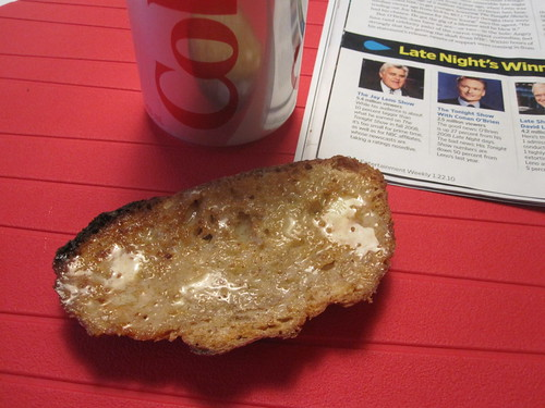 Toast and Diet Coke