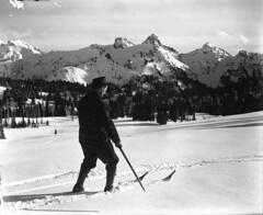 Man skiing, Mount Rainier National Park