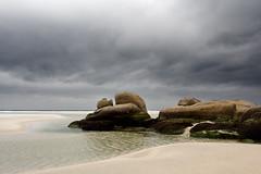 Carnota beach (Zalacain) Tags: ocean sea beach water clouds spain rocks cloudy galicia carnota acoruña costadelamuerte gettyimagesspainq1 gettyimagesiberiaq2