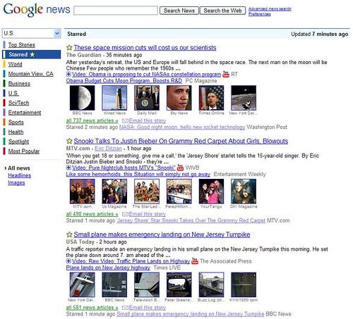 Google News Starring