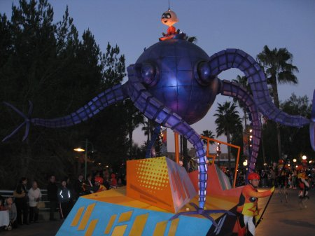 Pixar parade at California Adventure