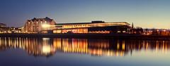 congress centre in blue 2 (worthy - xaleo) Tags: light sunset beautiful river germany deutschland dresden long exposure sonnenuntergang centre congress stunning bluehour fluss elbe langzeitbelichtung xaleo