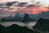 Cores do Rio de Janeiro - EXPLORE. (Carlos Vieira.) Tags: sky clouds mar céu cristoredentor nuvens pãodeaçucar montanhas silhueta mywinners frhwofavs