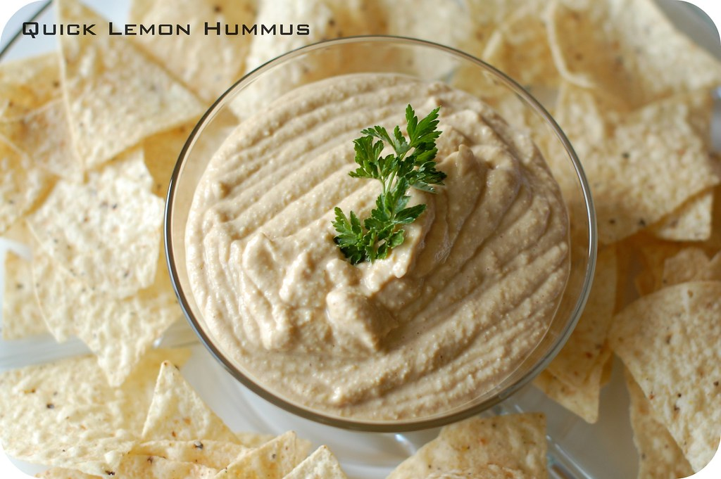 TOPIC: Quick Lemon Hummus (w/o tahini paste)