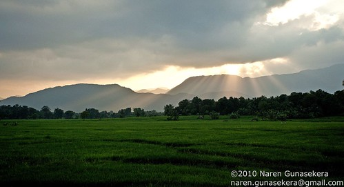 Sunset near Mahiyangana,
