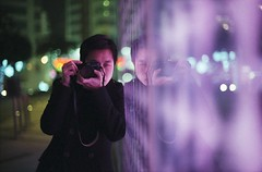 i live my life for the stars (hurtingbombz) Tags: leica reflection night hongkong 50mm bokeh natura 1600 fujifilm f11 m6 nokton societyworks